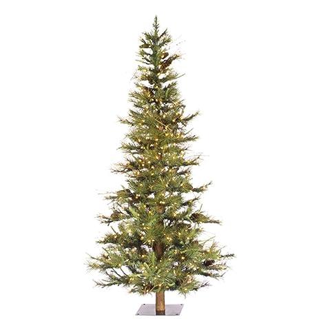 vickerman artificial christmas tree classic pvc needles ashland fir prelit with clear mini christmas lights - Small Christmas Tree With Lights