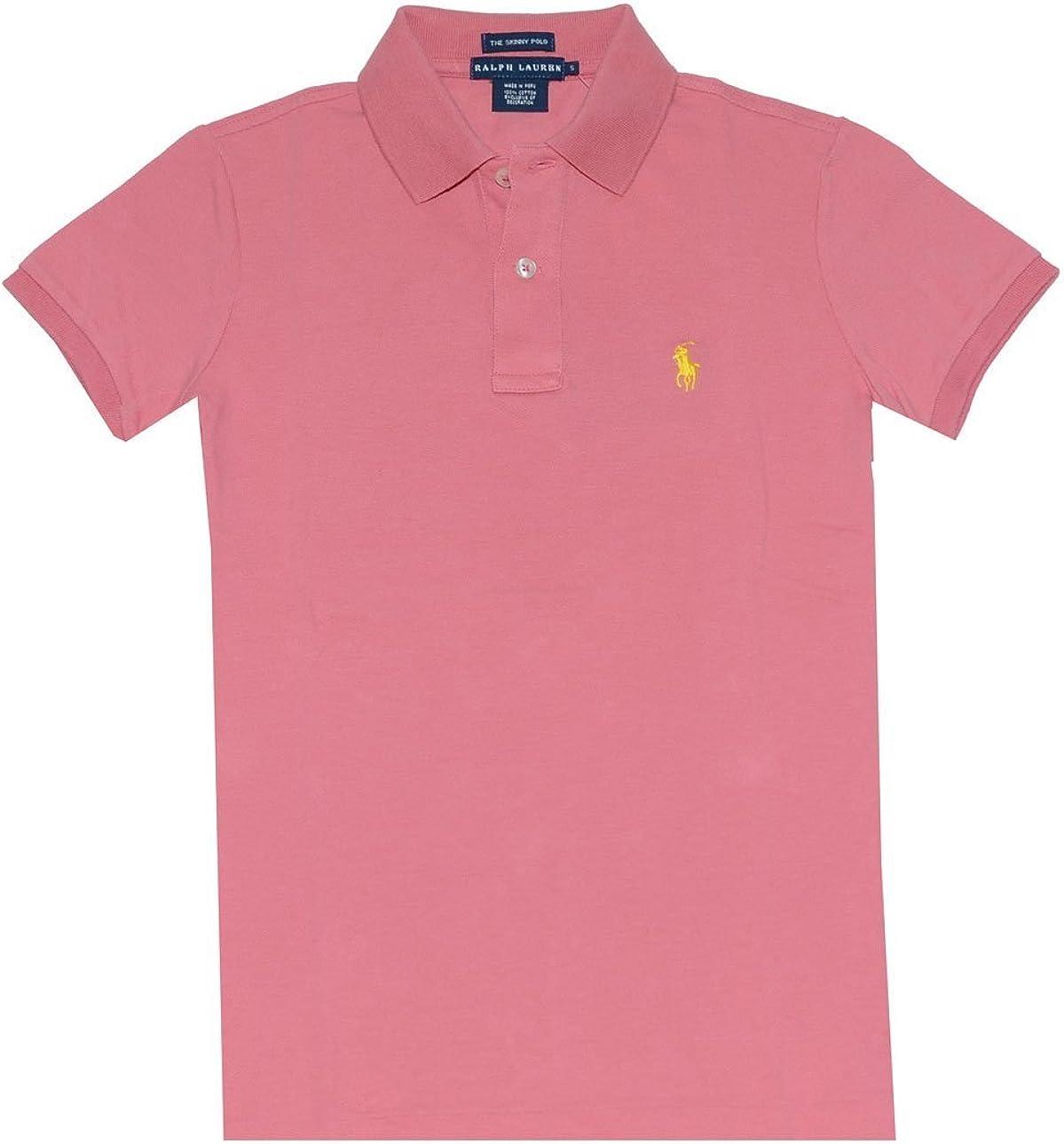 Ralph Lauren Polo de manga corta para mujer, color rosa claro ...