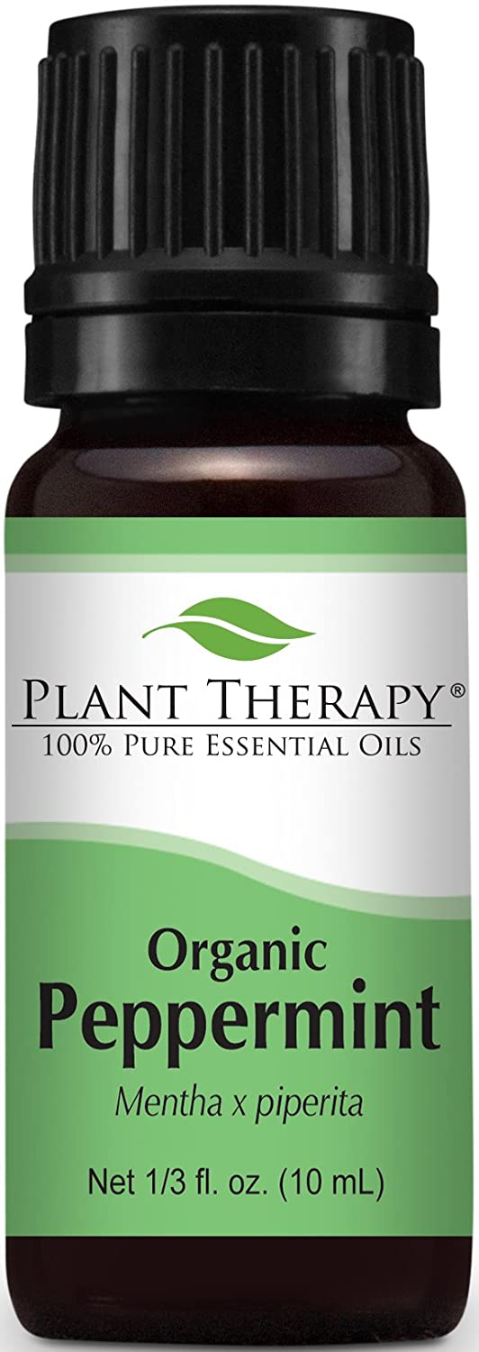 Plant Therapy Organic Peppermint Essential Oil. Therapeutic Grade. 10 ml (1/3 oz).