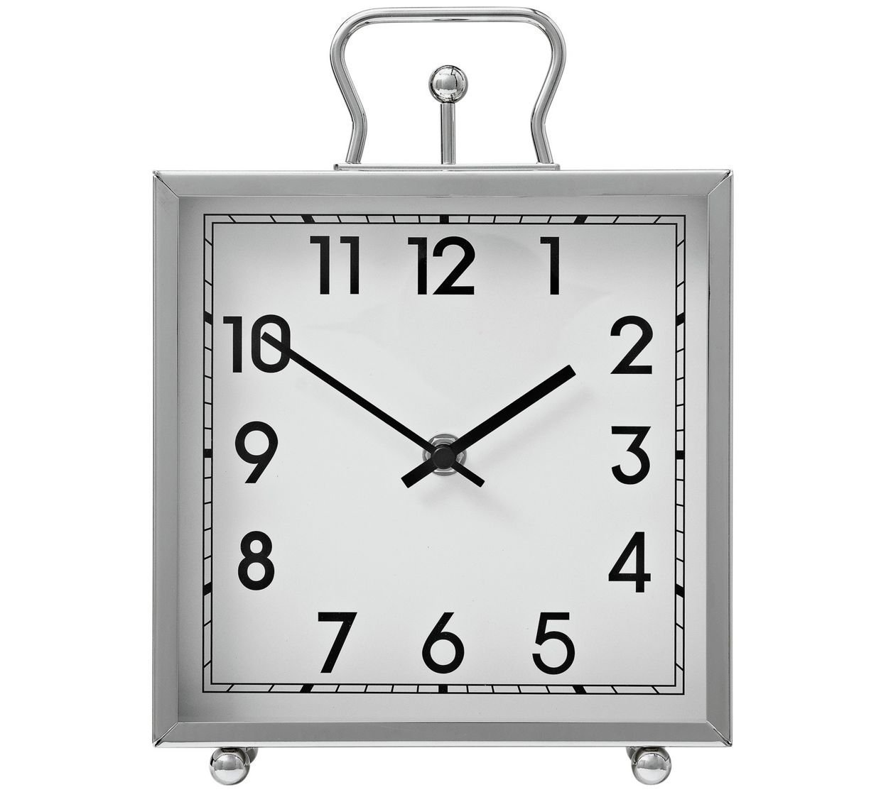 Heart of House Tuscany Silver Square Mantel Clock