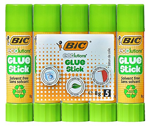 BIC 8 g Ecolutions Glue Stick Pack of 5