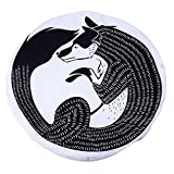 Qiyun Mat Cute Cartoon Baby Crawling Pad Thickening Round Child Play Game Mat Children Developing Carpet Toyscolour:B wolf