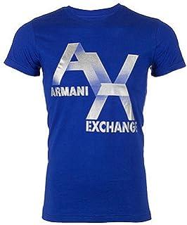 0162805920c1da Armani Exchange AX Logo Mens T-Shirt Premium Slim Fit Royal Blue Casual  Designer