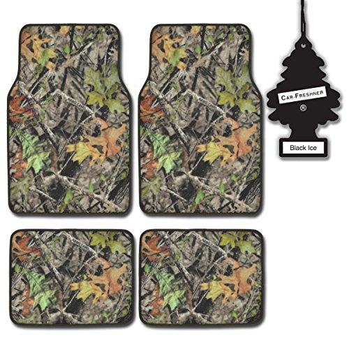 BDK Camouflage 4 Piece Set HAWG Waterproof Carpet Car Floor Mats + BLACKICE
