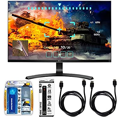 "LG 27"" Screen LED-lit Monitor (27UD68-P) with Xtreme Performance TV/LCD Screen Cleaning Kit, Xtreme 6 Outlet Power Strip & 2x General Brand HDMI to HDMI Cable 6'"