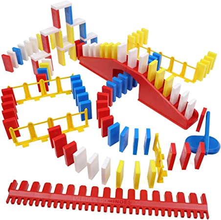 Bulk Dominoes The Basics   Pro Dominoes Large Pro-Scale Stacking Building Toppling Chain Reaction Dominoes Set for Kids and Creators