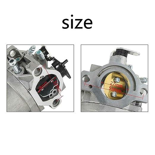LNIMIKIY Carburador de Repuesto para cortacésped doméstico y ...