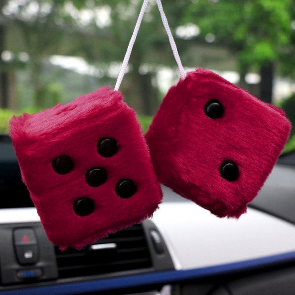 A suspendre D/és /à fourrure Zhouba Red Pour voiture Taille unique