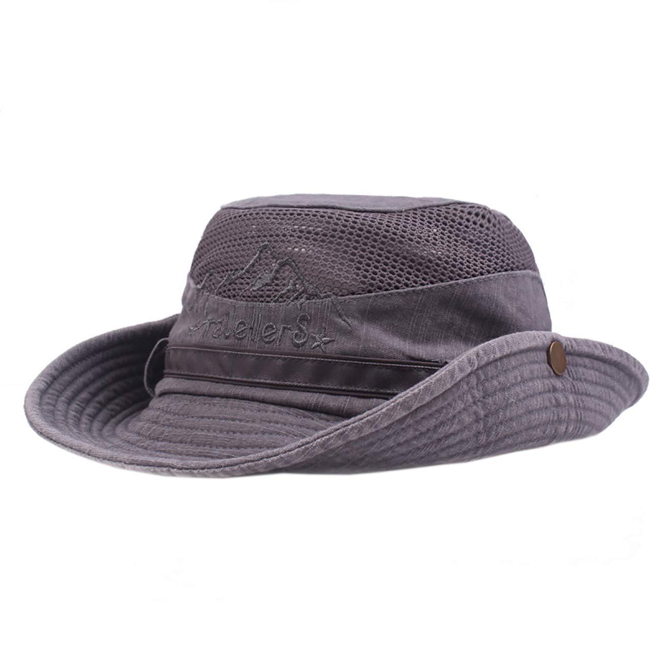EZCAMP Sombrero de Pesca para Hombre Sombrero de Sol con Banda Ajustable