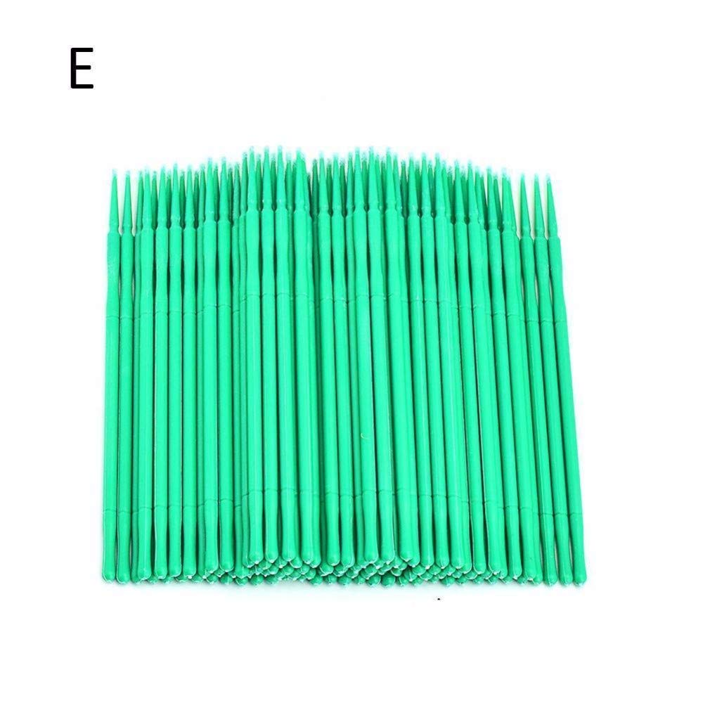 100pcs Eyelash Extensions Disposable Micro Brushes Tattoo Makeup Brushes Cotton Swabs Stick Muhan
