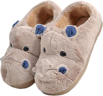 LANFIRE Zapatillas de algodón para niños y Adultos Zapatillas de ...