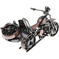 HOMYL Handcrafted Iron Motorbike Model with Chainwheel Collectible Vehicles T20