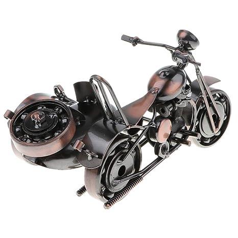 B Blesiya Juguete de Motocicleta/Tractor de Simulación en Miniatuar de Hierro Artesanal Estilo Retro