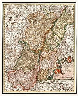 Elsass Karte.Historische Karte Elsaß Sundgau Breisgau Ortenau Markgrafschaft