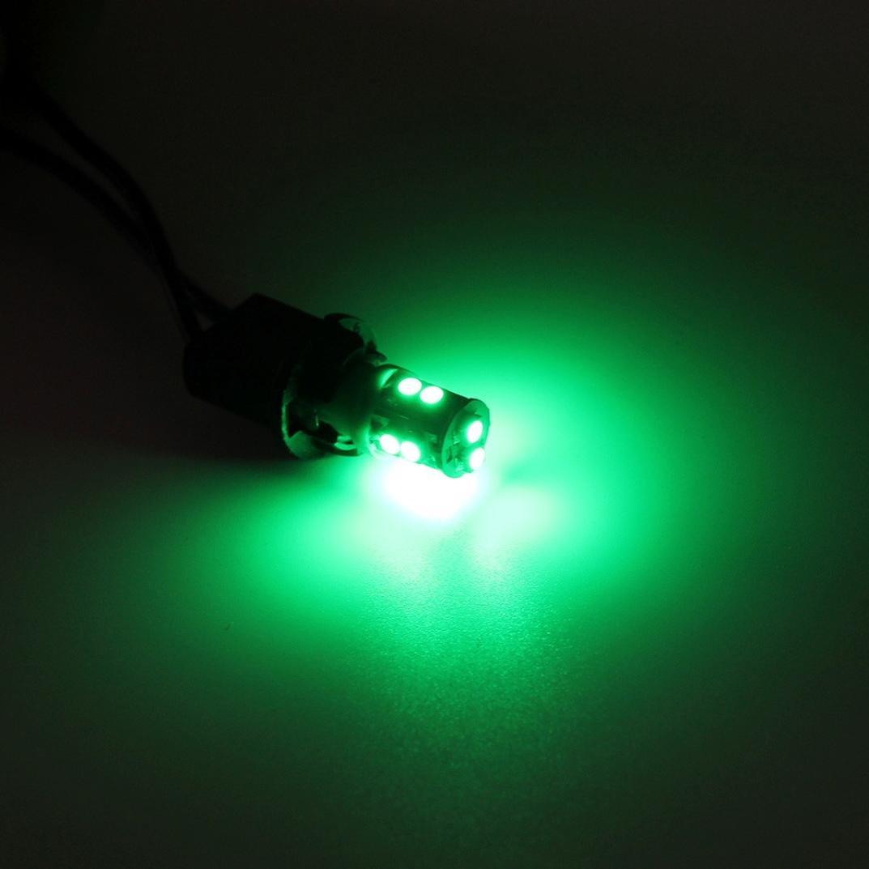 DZT1968 1X Warm White 360 ° T10 10-SMD Car Side Wedge LED Light Lamp Bulb W5W 194 168 2825 (Green)