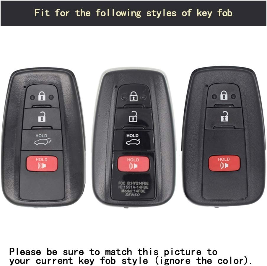 TANGSEN Smart Key Fob Case for Toyota Avalon Camry Corolla Hatchback C-HR Prius Prime RAV4 3 4 Button Keyless Entry Remote Personalized Protective Cover Plastic Carbon Fiber Texture