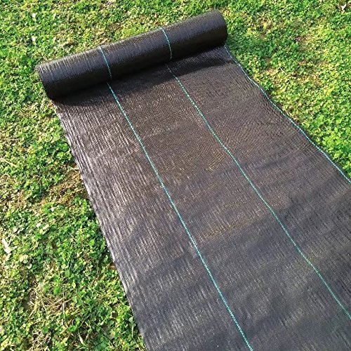 Agfabric 5x100ft Landscape Ground Cover Heavy PP Woven Weed Barrier,Soil Erosion Control and UV stabilized, Plastic Mulch Weed Block