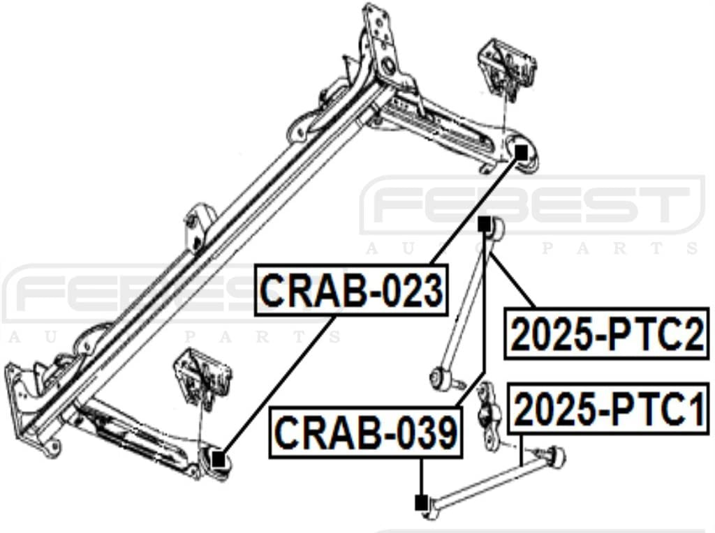 04656467AD Febest # 2025-PTC2-1 YEAR WARRANTY Rear Rod