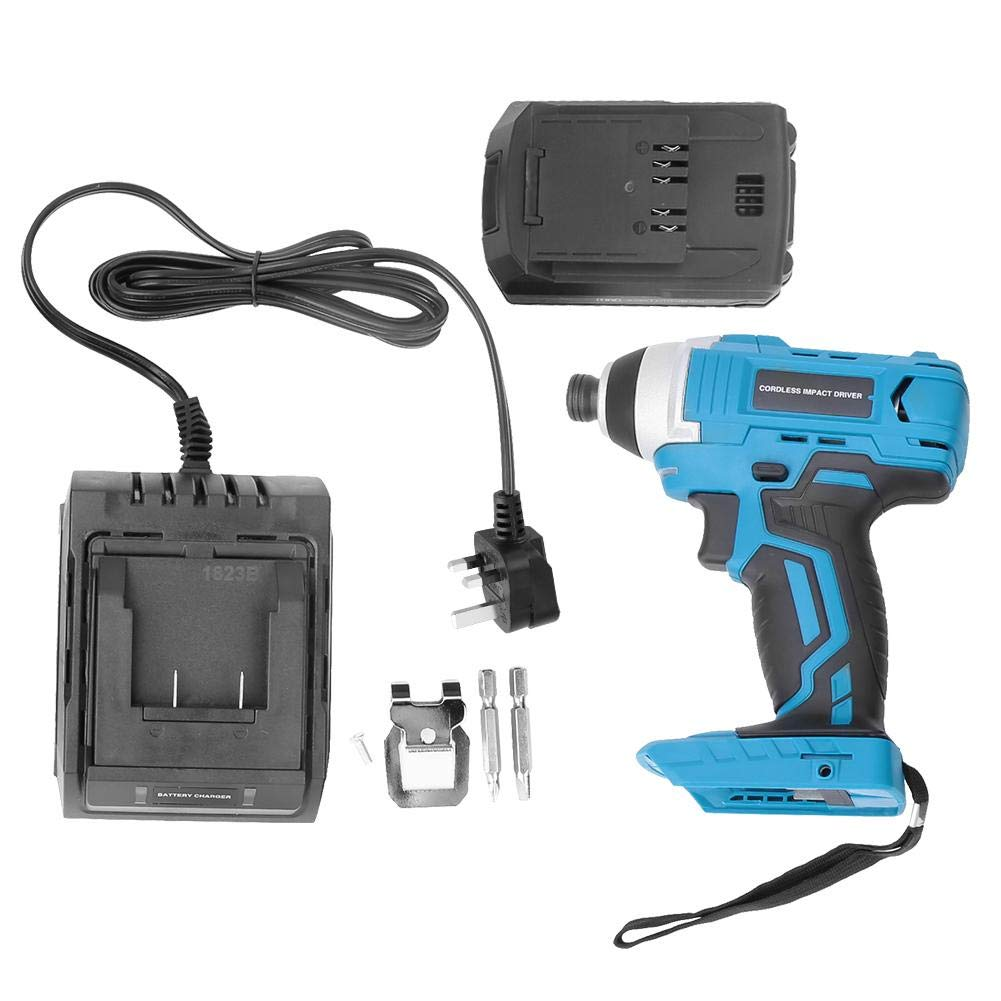 1//4 Inch 2.0Ah Battery Fast Charger with Carrying Case 18V Cordless Brushless Impact Wrench