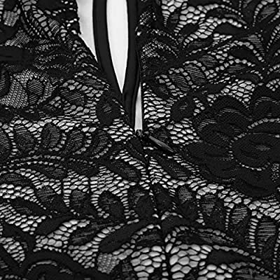 Kate Kasin Lace Halter Sleeveless A-Line Keyhole Wedding Party Formal Dress KK638 at Women's Clothing store