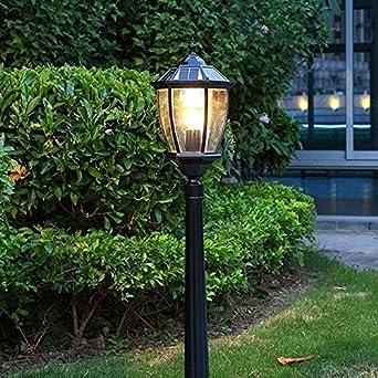 Pumnple LED de aluminio fundido Luminaria de poste solar Lámpara de bombilla imperial Lámpara solar al