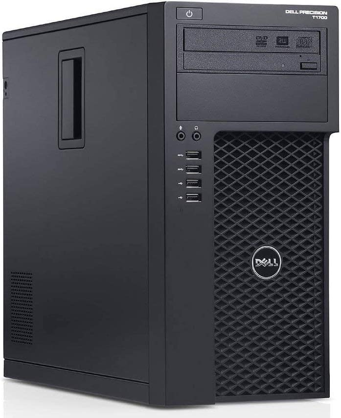 Dell Precision T1700 Tower Desktop PC, Intel Quad Core i7-4770 up to 3.9GHz, 16G DDR3, 512G SSD, DVD, WiFi, BT 4.0, Windows 10 64 Bit-Multi-Language Supports English/Spanish/French(Renewed)