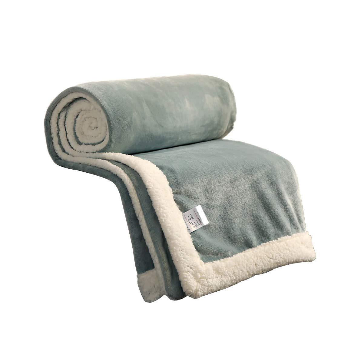 フェイクファー毛布フェイクファー、無地毛布学生寮女性冬厚いサンゴフリース毛布暖かいシートキルト(色:A、サイズ:150× 200 cm) B07QNJ14LJ