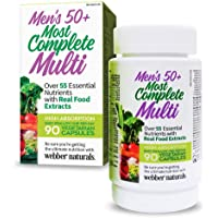 Webber Naturals Men's 50+ Most Complete Multi, Vegetarian Capsules, 90ct