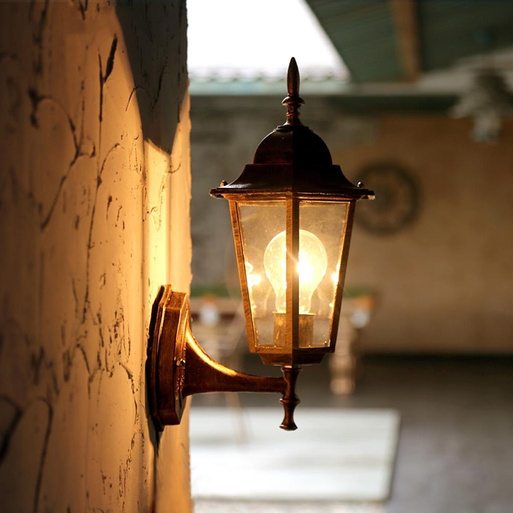 Creativo Villa Outdoor giardino luce luci pilastro impermeabile lampada da parete