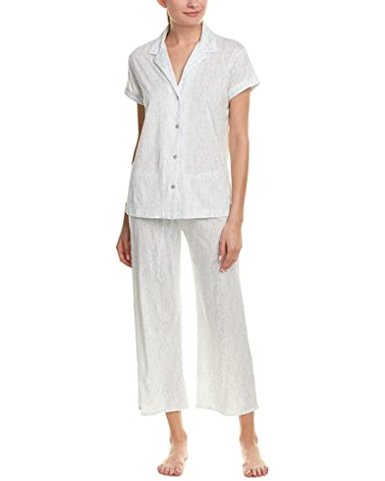 Natori Womens Nara Short Sleeve PJ Frosted Blue L (Women s 14-16) One Size  at Amazon Women s Clothing store  a121a1b2c