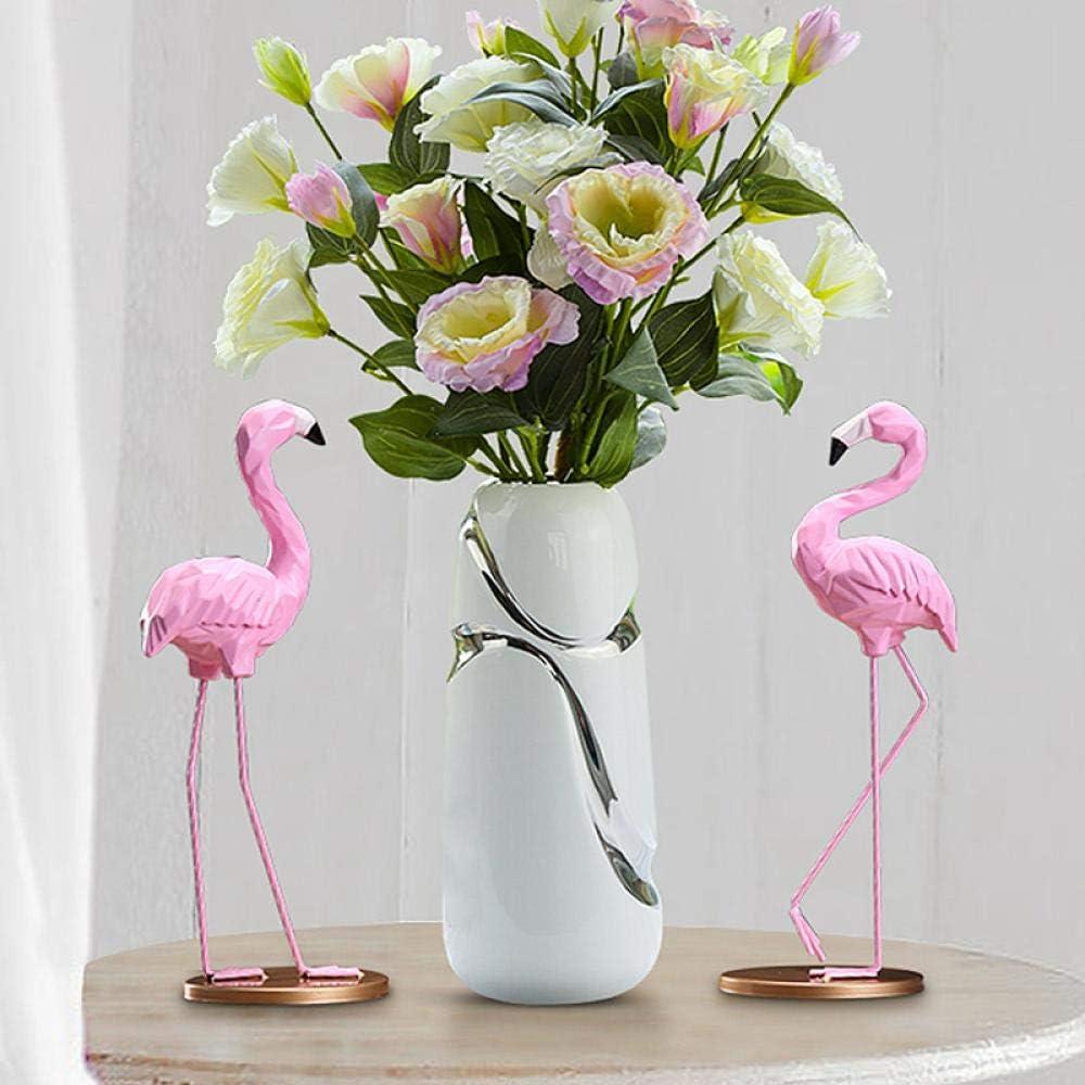 TZHP Moderne de Haute qualit/é Vase en c/éramique plaqu/é /à la Main Blanc et Argent Vase /à Fleur vases pour Les Maisons Vase /à Fleur pour la d/écoration de Mariage