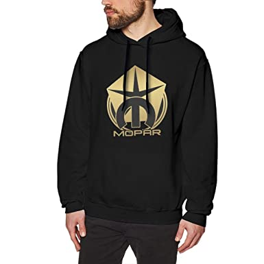 Mens Hooded Sweatshirt Mopar GT Classic Outline Personality Street Trend Creation Gray