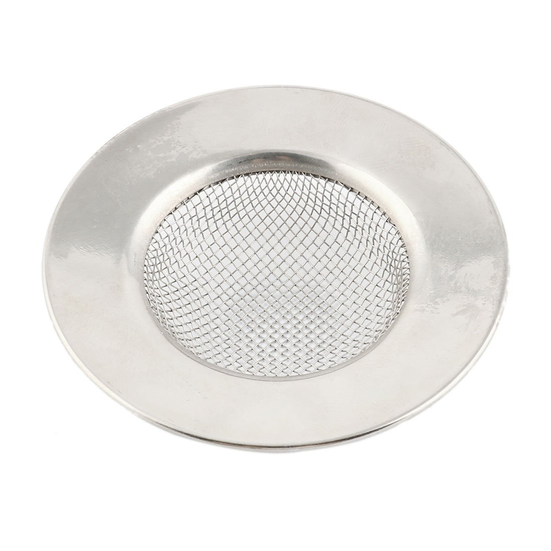 sourcingmap® Stainless Steel Kitchen Bathroom Basin Drain Sink Mesh Strainer Filter 6.4cm Outer Dia Silver Tone SYNCFHK016521