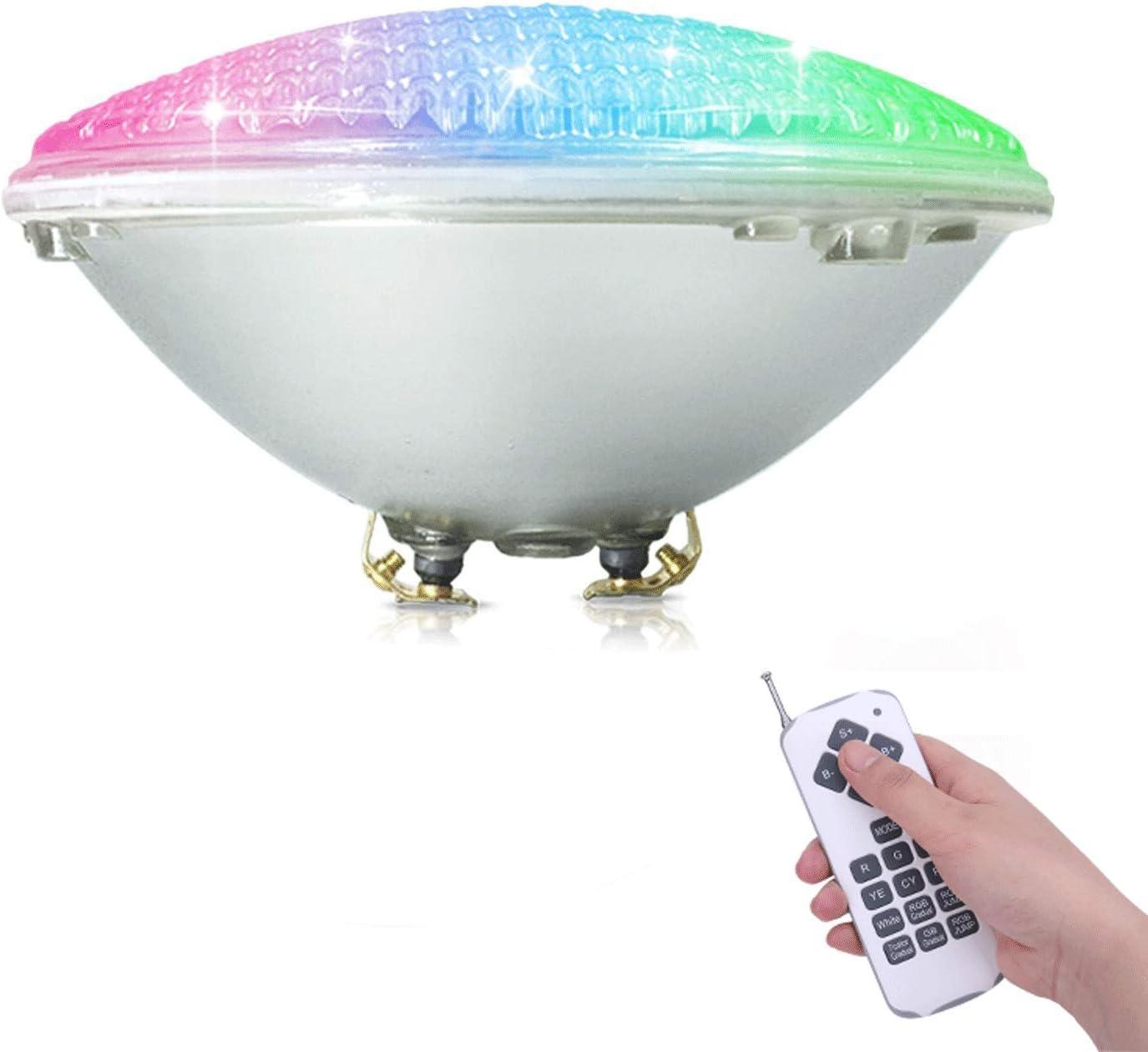 COOLWEST RGB Luces de la piscina LED 36W PAR56 Iluminación de piscinas con Control Remoto 12V AC/DC, Luminarias subacuáticas IP68 impermeables Reemplazar bombillas halógenas de 250W