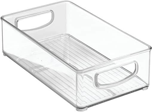 """'InterDesign Home Kitchen Organizer Bin for Pantry, Refrigerator, Freezer & Storage Cabinet, 10"""" x 3"""" x 6"""", Clear' from the web at 'https://images-na.ssl-images-amazon.com/images/I/61YZiM6Qx-L._AC_SY375_.jpg'"""