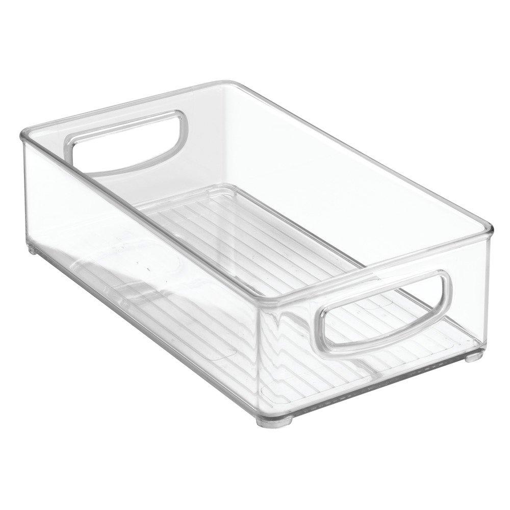 InterDesign 64330 Home Organizer Bin for Pantry, Refrigerator, Freezer & Storage Cabinet, 10'' x 3'' x 6'', Clear Medium