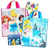 Disney Princess Reusable Tote Grocery Bag Pack ~ 2 Pack of Princess Reusable Tote Bag for Groceries and Presents (Disney Princess Totes)