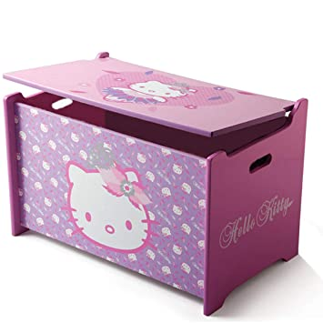 946de7e89 Delta Children's Products Hello Kitty Toy Box Toy Box Wooden Chest Toy  Storage Box Nursery New: Amazon.co.uk: Toys & Games