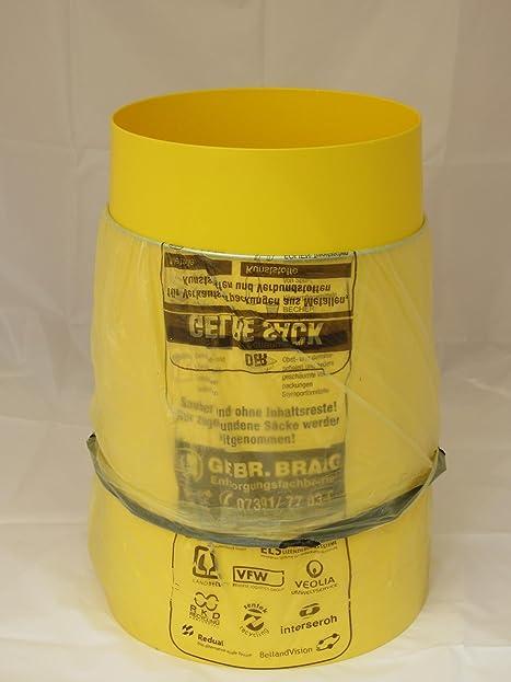 Sacktonne Gelb Mit Metallring Mülleimer Müllsackständer Gelber Sack Ständer