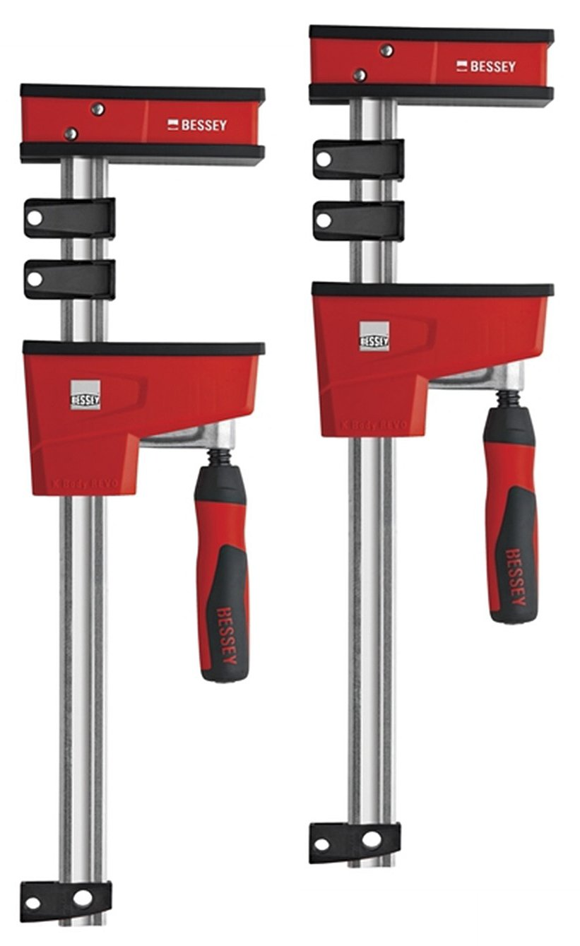 Bessey KRE100-2K Body Clamp Twin Pack, 1 V, Red, 1