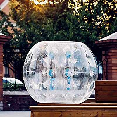 Popsport Inflatable Bumper Ball 5FT Bubble Soccer Ball 0.8mm Eco-Friendly PVC Zorb Ball Human Hamster Ball for Adults and Kids (5FT): Sports & Outdoors