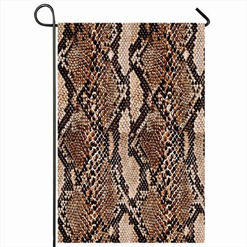 - Ahawoso Outdoor Garden Flag 12x18 Inches Exotic Brown Skin Orginal Snake Leather Crocodile Pattern Desing Python Snakeskin Rattlesnake Seasonal Home Decorative House Yard Sign