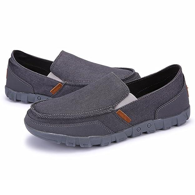67f59368844e Juleya Herren Mokassins Loafers Slip-on Schuhe - Männer Halbschuhe Slippers  Sommerschuhe Freizeitshcuhe Stoffschuhe Canvas Sneaker Bootsschuhe Flache  Pumps ...