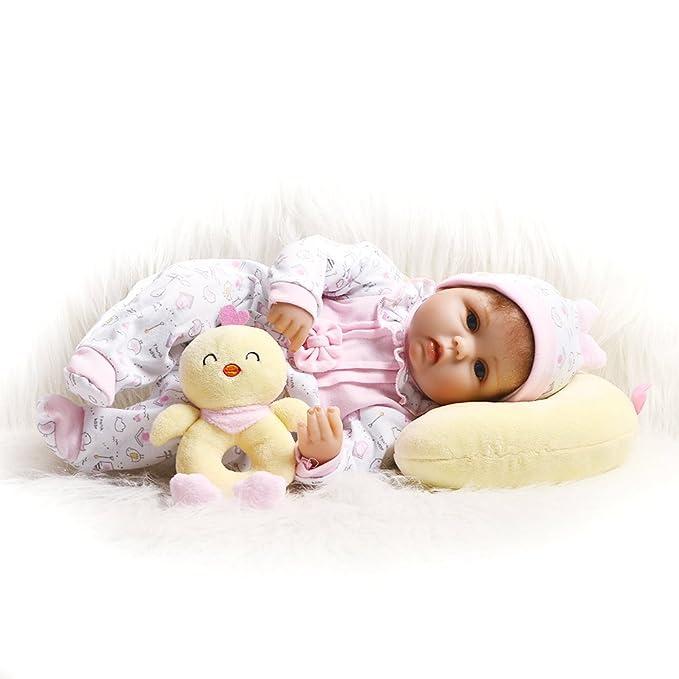 Amazon.com: KEIUMI - Muñeca de silicona suave para bebés ...