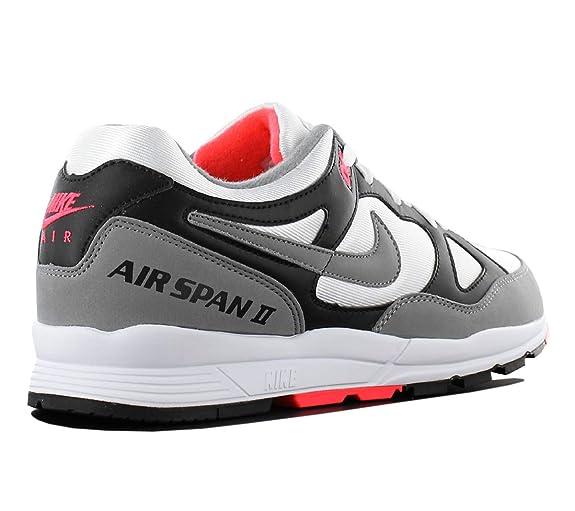 Nike Herren Air Span II Schwarz TextilKunstleder Sneaker