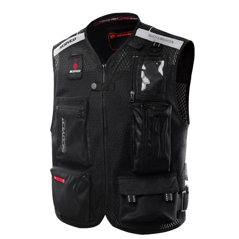 Scoyco JK46 Men's Motorcycle Auto Racing Vest (XL, Black)
