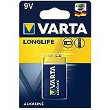 VARTA Pile alcaline Longlife, E-Bloc (6LR61)