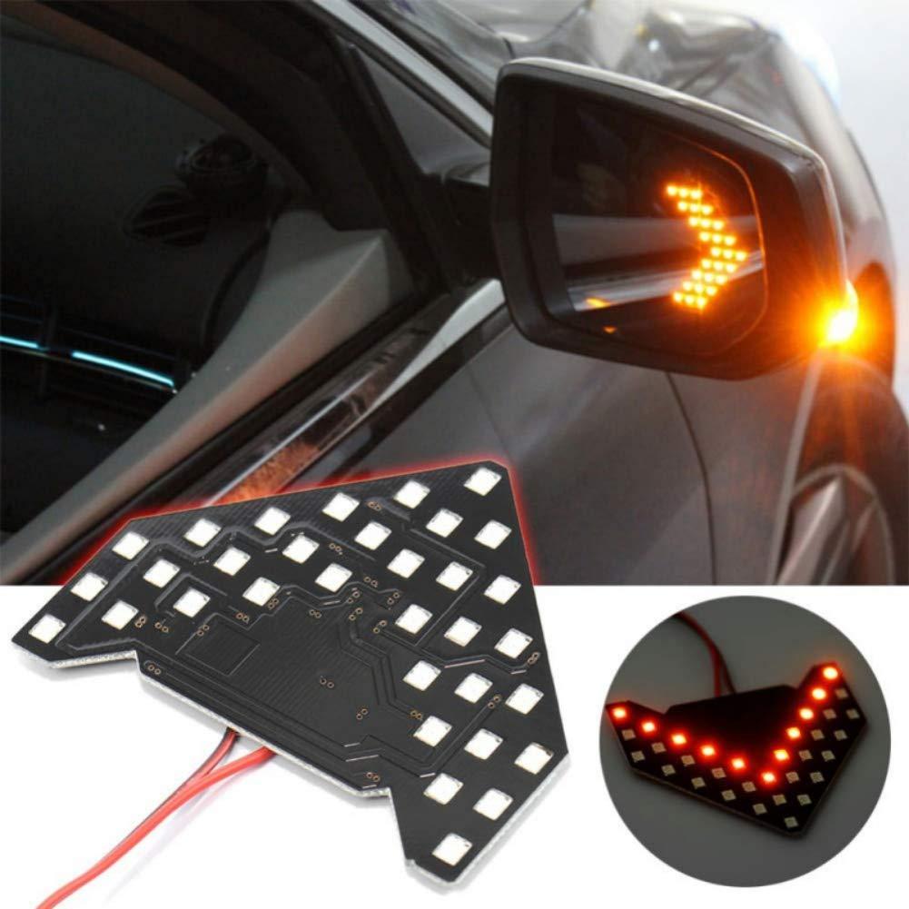 Les fl/èches s/équentielles jaunes de 33SMD LED pour le clignotant de miroir lat/éral automatique de voiture sallume Balight