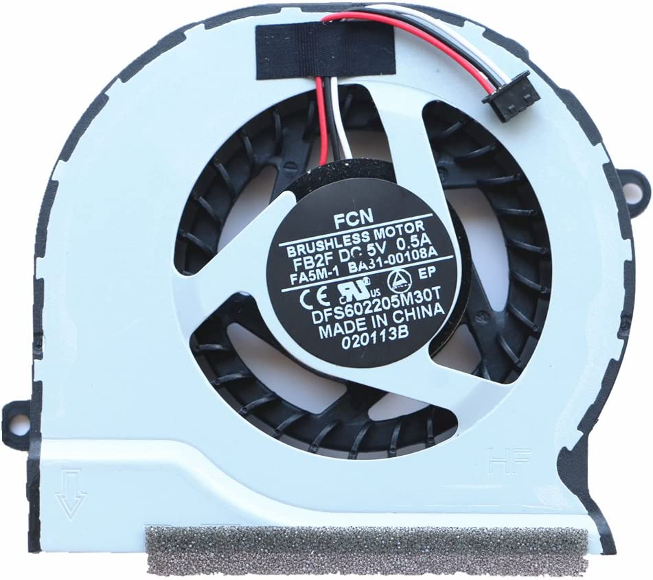NBFAN BA31-00108A Laptop Replacement Cooler Fan for Samsung NP300V5A NP305V4A NP300E5C NP305V4Z NP300E45 CPU Cooling Fan Fcn DFS602205M30T FB2F DC5V 0.5A