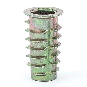 """E-Z LOK - 951618-25 E-Z Lok Threaded Insert, Zinc, Hex-Flanged, 5/16""""-18 Internal Threads, 25mm Length (Pack of 25)"""